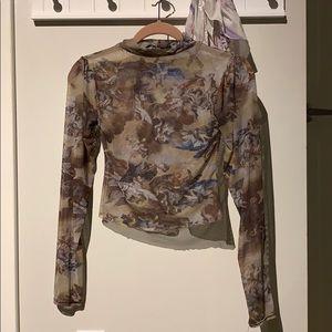 Nastygal cherub mesh top